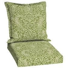 Garden Treasures Patio Chairs Shop Garden Treasures Green Stencil Damask Deep Seat Patio Chair