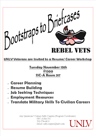veterans resume builder rebel vets unlv veterans education transition support page 2 bootstraps to briefcases