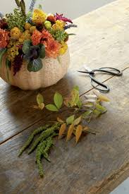 Arranging Flowers by Smashing Floral Pumpkin Centerpiece Southern Living