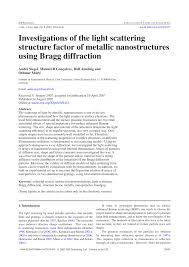 Factors Of 481 Investigations Of The Light Scattering Structure Factor Of