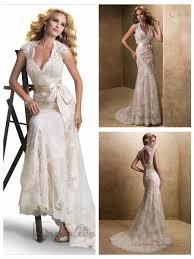 slim cap sleeves v neck lace open back wedding dresses 2446774