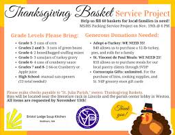 annual thanksgiving basket food and donation drive