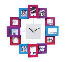 Personalized Clocks With Pictures Baby Photo Frame Wall Clock With 12 Multi Photo Frame Personalized