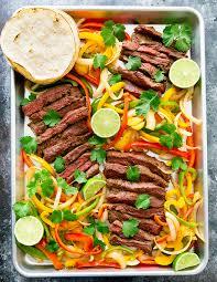 cuisine steak sheet pan steak fajitas kirbie s cravings