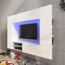 Wohnzimmerschrank Ohne Tv Fach Vidaxl Hochglanz Mediawand Wohnwand Led Tv Wand W Real