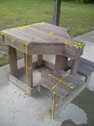 Free Large Octagon Picnic Table Plans Easy Woodworking Solutions by Woodworking Projects For Beginners Shooting Bench Plans