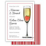 chagne brunch invitations items similar to bridal brunch invitations chagne glass mimosa