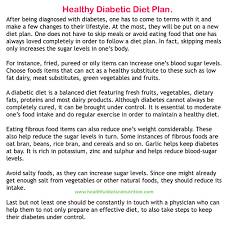 healthy diabetic diet plan healthful diet and nutrition