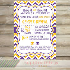 purple and grey baby shower invitations purple and gold gender reveal party invitation purple and
