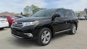 toyota limited 2013 toyota highlander limited 4wd start up walkaround and