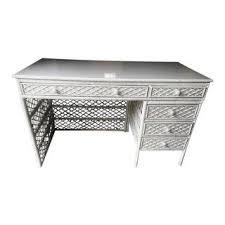 White Wicker Desk by Vintage U0026 Used White Desks Chairish