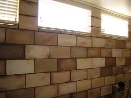 Wall Paintings Designs by Painting Cinder Blocks Painted Concrete Block Wall