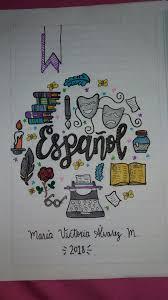 drawing layout en espanol cuaderno español spanish notebook cuadernos pinterest bullet