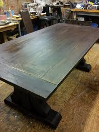 how to stain pine table she wanted that pine trestle table stained by joebama