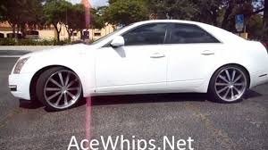 cadillac cts rims for sale arctic customs white 2010 cadillac cts on 22 s
