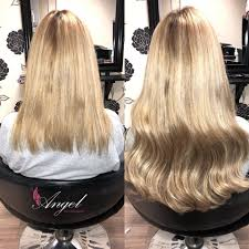 angel hair extensions stunning transformation using a angel hair extensions