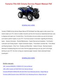 yamaha yfm 600 grizzly service repair manual by marlonmaas issuu