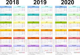 Kalender 2018 Für österreich Dreijahreskalender 2018 2019 2020 Als Pdf Vorlagen Zum Ausdrucken