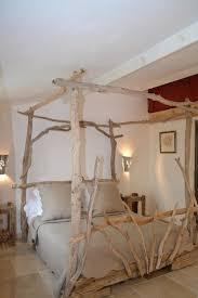 chambre bois flotté lit à baldaquin en bois flottés 160 x 200 pinteres
