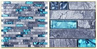 Emejing Blue Glass Backsplash Tile Photos Home Design Ideas - Teal glass tile backsplash
