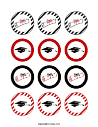 graduation cake toppers printable cupcake toppers