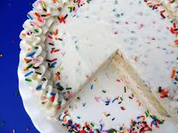 funfetti cake batter ice cream cake rainbow chip icing