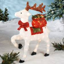 Reindeer Christmas Decorations Make by Lighted Outdoor Decorations Christmas Landscaping U0026 Backyards Ideas