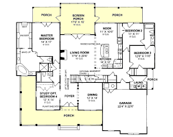 Small Home Plans With Porches Apartments House Plans With Sunrooms One Story Floor Plan