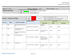 project weekly status report template excel project management status report template excel image collections