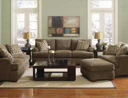 klaussner vaughn chair and a half and matching ottoman with