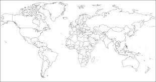 outline of world map best photos of world map outline to print world map blank