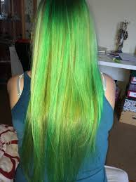Colorful Hair Dye Ideas Apple Green And Blonde Hair Color Hair Colors Ideas