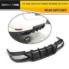 lexus gs accessories uk carbon firber rear bumper diffuser fit for 12 15 lexus gs350 f