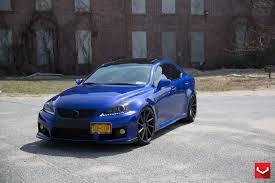 lexus is blue vossen wheels lexus is vossen cvt