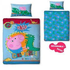 Peppa Pig Duvet Cover 100 Cotton George Peppa Pig Duvet Ebay