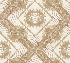 wallpaper versace home zebra ornaments taupe metallic 34904 1
