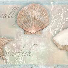 coastal waters volume ii sea shells wallpaper border ct46051b