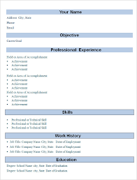 Samples Of Achievements On Resumes by Basic Resume 14 Basic Resume Outline Sample