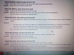 srvo 043 dcal alarm g1 ax 1 robotforum support for