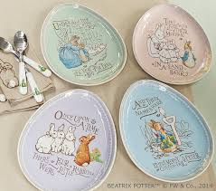Pottery Barn Kids Names Peter Rabbit Easter Plate Sets Pottery Barn Kids
