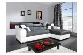canapé cuir et microfibre canapé d angle madrid i cuir pu et microfibre gris et blanc