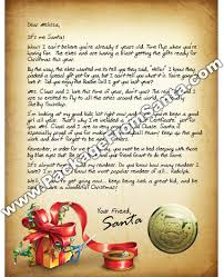 personalized letter from santa www packagefromsanta personalized letter from santa claus