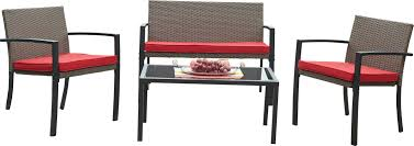 bondi outdoor 4 piece lounge seating group with cushion u0026 reviews