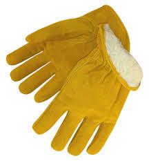 Split Cowhide Pile Lined Split Cowhide Work Gloves Leather Drivers Gloves