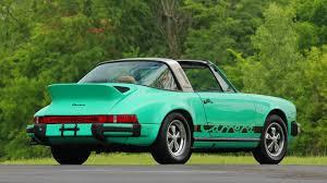 porsche 911 green 1974 porsche 911 carrera targa s75 monterey 2016