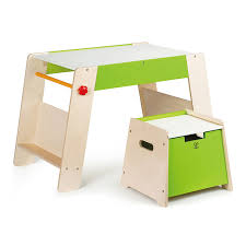 hape kids wooden play station u0026 art activity easel table set with