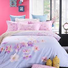 sophisticated teen duvet cover cotton material asian lily pattern