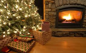 houses christmas tree fireplace interior architecture wallpaper