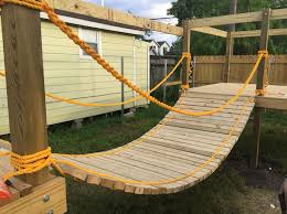 Playground Ideas For Backyard Rope Bridge For My Sons Diy Playground Outdoor Play Pinterest