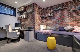 Great Office Design Ideas Great Office Design Stylish And Innovative Basement Office Design